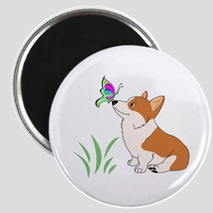 Corgi with butterfly Magnets